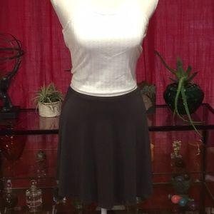 Express A-Line Gray Mini Skirt Size Medium
